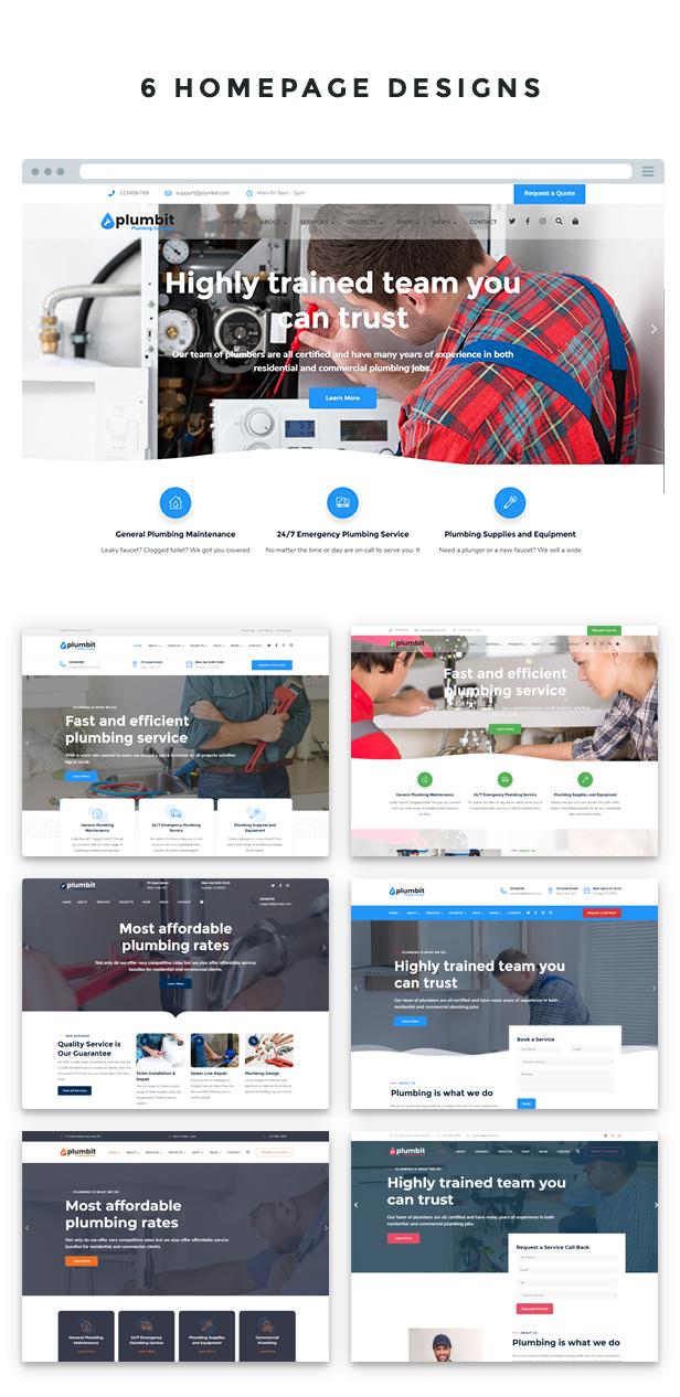 Plumbit - Plumbing WordPress Theme - 5