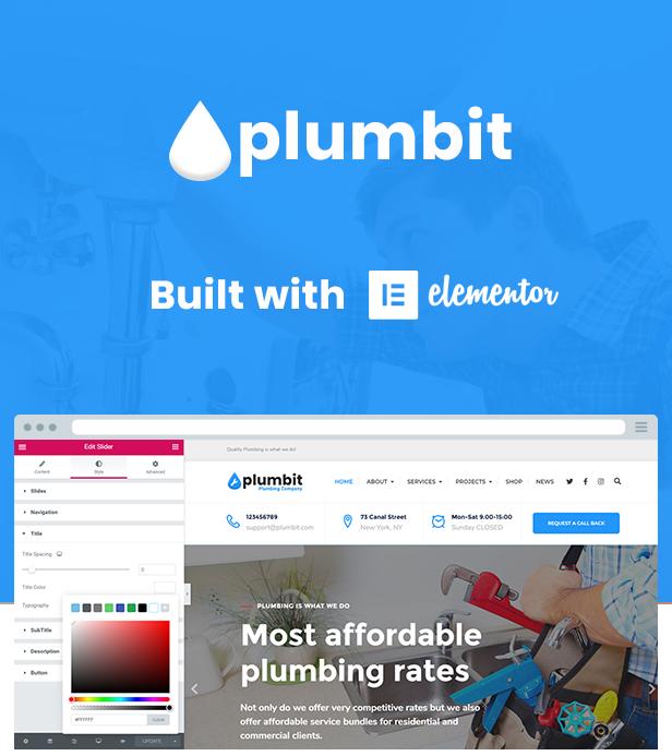 Plumbit - Plumbing WordPress Theme - 4